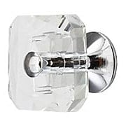 Boutique Crystal Knob - 1 3/16