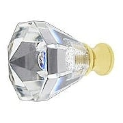 Small Lead-Free Octagonal Crystal Knob with Solid Brass Base (item #RS-08CCC-M13-27X)