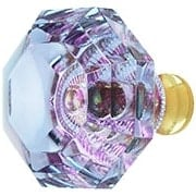 Blue to Lavender Lead-Free Octagonal Crystal Knob with Solid Brass Base (item #RS-08CCC-M994-ALEXX)
