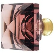 Amethyst Lead-Free Square Crystal Knob with Solid Brass Base (item #RS-08CCC-M995-AMETHYX)