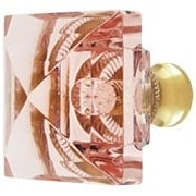 Pink Lead-Free Square Crystal Knob with Solid Brass Base (item #RS-08CCC-M995-PINKX)
