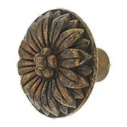 Small Flower Cabinet Knob with Choice of Finish (item #RS-08CL-100407X)