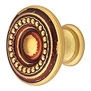 Beaded Round Cabinet Knob - 1