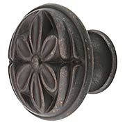 Flower Cabinet Knob - 1 3/16