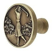 Lady of the Links Cabinet Knob (item #RS-08NH-NHK-131X)
