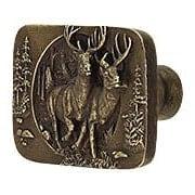 Bucks on the Run Cabinet Knob (item #RS-08NH-NHK-136X)