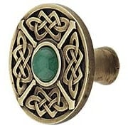 Celtic Jewel Knob Inset with Green Aventurine (item #RS-08NH-NHK-158-GAX)