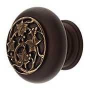"Hardwood Knob with Berries Onlay - 1 1/2"" Diameter (item #RS-08NH-NHW-715X)"