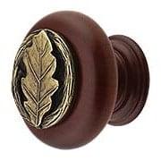 Oak Leaf Wood Knob (item #RS-08NH-NHW-744X)