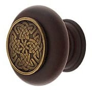 Hardwood Knob with Celtic Isle Onlay - 1 1/2