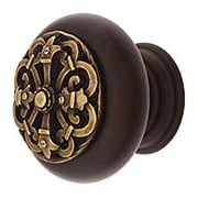 Hardwood Knob with Chateau Onlay -  1 1/2