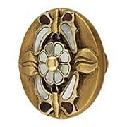 Heirloom Treasures Flower Cabinet Knob - 1 1/2