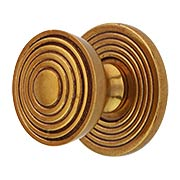 Sonata Round Cabinet Knob with Back Plate - 1 1/8