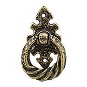 Britannia Tudor Ring Pull with Vertical Backplate (item #RS-08TK-M4VX)