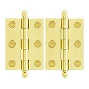 Pair of Premium Solid Brass Cabinet Hinges - 2