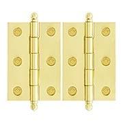 Pair of Premium Solid Brass Cabinet Hinges - 2 1/2