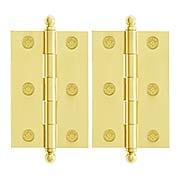 Pair of Premium Solid Brass Cabinet Hinges - 3