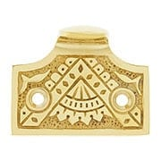 Oriental Pattern Sash Lift In Solid Cast Brass (item #W-09HH-SB500X)