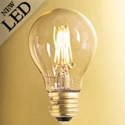 Vintage Style A-Shape Medium Base LED Filament Bulb - 4W (item #R-010BR-776502)