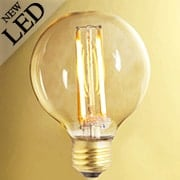 Vintage-Style Round Medium-Base LED Filament Bulb - 5W (item #R-010BR-776600)