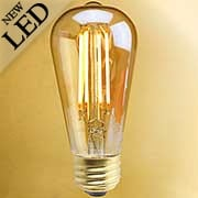 Vintage-Style Tapered Medium-Base LED Filament Bulb - 5W (item #R-010BR-776601)