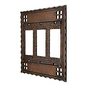 Arts and Crafts Triple GFI Outlet Cover Plate In Oil-Rubbed Bronze (item #R-010CH-SWM3GAC)