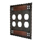 Arts and Crafts Triple Duplex Outlet Cover Plate In Oil-Rubbed Bronze (item #R-010CH-SWM3OAC)