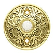 Lancaster Door Bell Button In Forged Brass (item #R-010EM-2406X)
