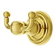 Forged Brass Double Hook With Classic Rosette (item #R-010EM-26090X)