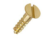#8 x 3/4 Inch Brass Flat Head Slotted Wood Screws - 25 Pack (item #R-010HH-517X)