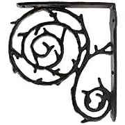 Swirl Cast-Iron Shelf Bracket - 9