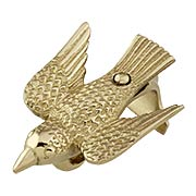 Cast-Brass Bird Picture Rail Hook (item #R-010HU-398X)