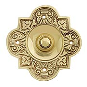 Large Eastlake Solid-Brass Doorbell Button (item #R-010HU-BBP-006X)