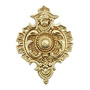 Large Rococo Solid-Brass Doorbell Button (item #R-010HU-BBP-007X)