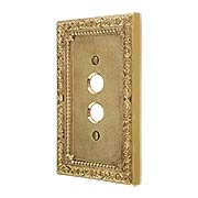 Floral Victorian Single Gang Push-Button Switch Plate (item #R-010II-421X)