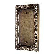 Floral Victorian Blank Cover Plate in Antique-By-Hand (item #R-010II-425-ABH)