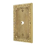 Floral Victorian Cable Jack Cover Plate (item #R-010II-426X)
