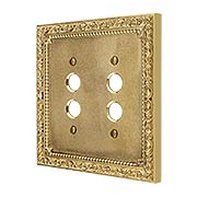 Floral Victorian Double Gang Push-Button Switch Plate (item #R-010II-427X)