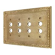 Floral Victorian Quad Gang Push Button Switch Plate (item #R-010II-437X)