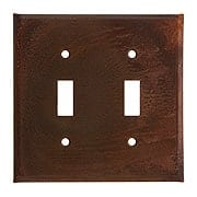 Country Tin Double Toggle Switch Plate (item #R-010IW-379DSX)