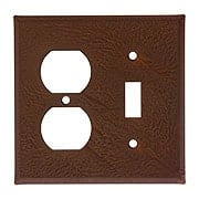 Country Tin Combination Toggle/Duplex Cover Plate (item #R-010IW-379OSX)