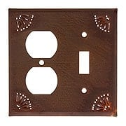 Pierced Tin Combination Toggle/Duplex Cover Plate (item #R-010IW-789OSX)