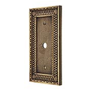 Pisano Cable Jack Cover Plate In Antique-By-Hand (item #R-010MG-172-ABH)