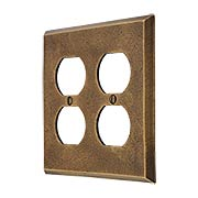 Distressed Bronze Double-Gang Duplex Cover Plate (item #R-010MG-257)