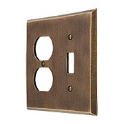 Distressed Bronze Toggle/Duplex Combination Switch Plate (item #R-010MG-259)