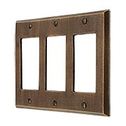Distressed Bronze Triple-GFI Cover Plate (item #R-010MG-265)