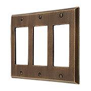 Distressed Bronze Triple-GFI Cover Plate (item #R-010MG-265)