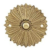 Hollywood Regency Solid-Brass Doorbell Button (item #R-010MG-311X)