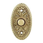 Oval Beaded Solid-Brass Doorbell Button (item #R-010MG-312X)