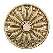 French Regency Solid-Brass Doorbell Button (item #R-010MG-316X)